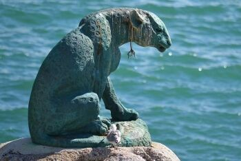 Bronz Leopard Memorial, Houtbay, Cape Town